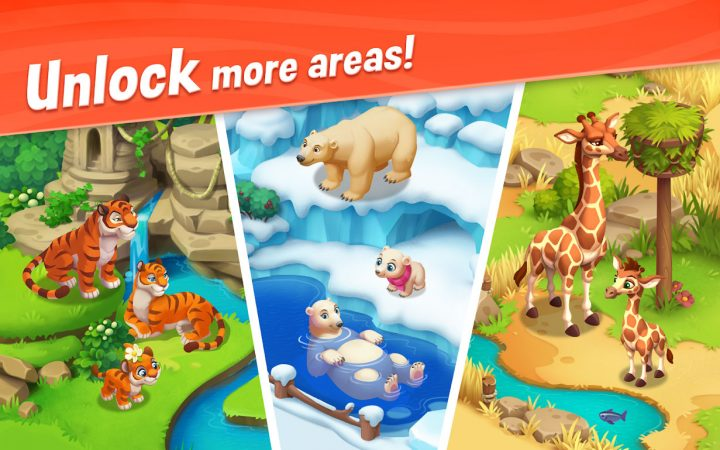 دانلود Wildscapes 2.2.8 – بازی حیوانات باغ وحش برای اندروید + مود