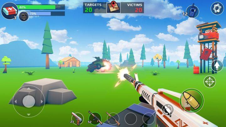 دانلود Pixel's Unknown Battle Ground 1.53.00 بازی نبرد بزرگ اندروید + مود
