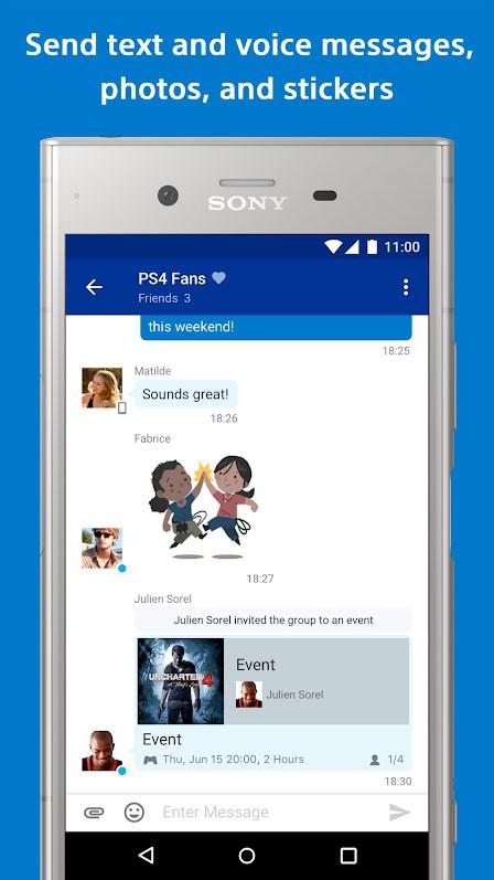 دانلود PlayStation Messages 20.01.5.11295 برنامه پی اس مسیج اندروید