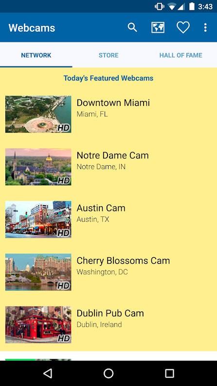 دانلود Webcams Pro 2.0.13 برنامه مشاهده دوربین های زنده دنیا اندروید