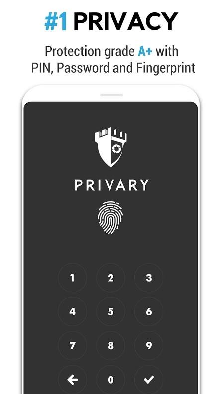 دانلود PRIVARY Premium 2.9.1 برنامه قفل عکس، فیلم و فایل اندروید