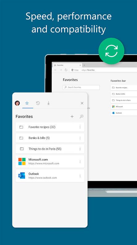دانلود Microsoft Edge 45.08.2.5073 مرورگر مایکروسافت اج اندروید