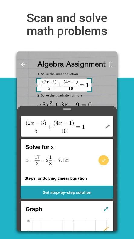 دانلود Microsoft Math Solver 1.0.186 برنامه حل مسائل ریاضی اندروید