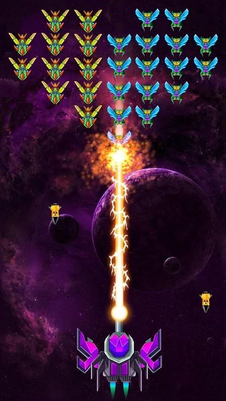 دانلود Galaxy Attack: Alien Shooter 33.2 بازی تیراندازی فضایی اندروید + مود
