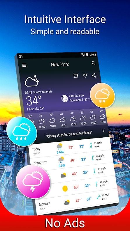 دانلود Weather 14 days Pro 6.10.2 برنامه هواشناسی برای اندروید