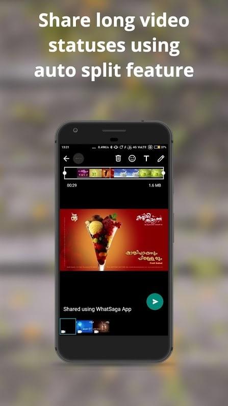 دانلود WhatSaga | Longer Stories | Save Status Premium 1.9.5 برای اندروید