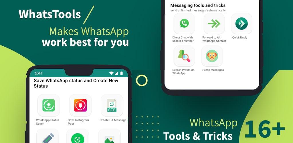 دانلود WhatsTool: Toolkit for WhatsApp Pro 2.1.4 برنامه ابزار و ترفندهای واتساپ