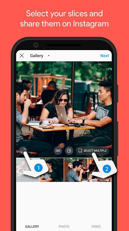 دانلود PanoramaCrop for Instagram Pro 1.7.1 برنامه گذاشتن عکس عریض در اینستاگرام