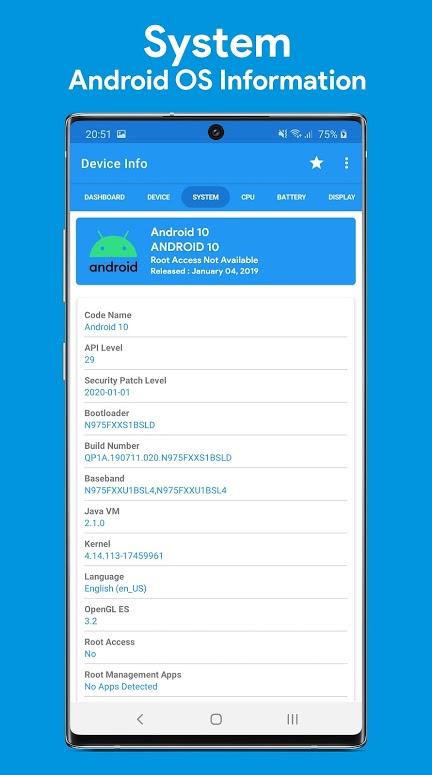 دانلود Device Info : View Device Information Pro 3.1.2 برنامه نمایش اطلاعات دستگاه اندروید