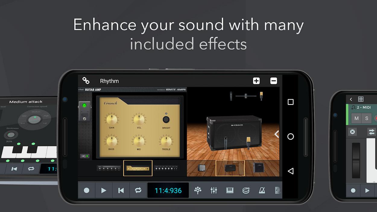 دانلود n-Track Studio 9 Pro 9.3.6 برنامه استودیو حرفه ای صدا اندروید