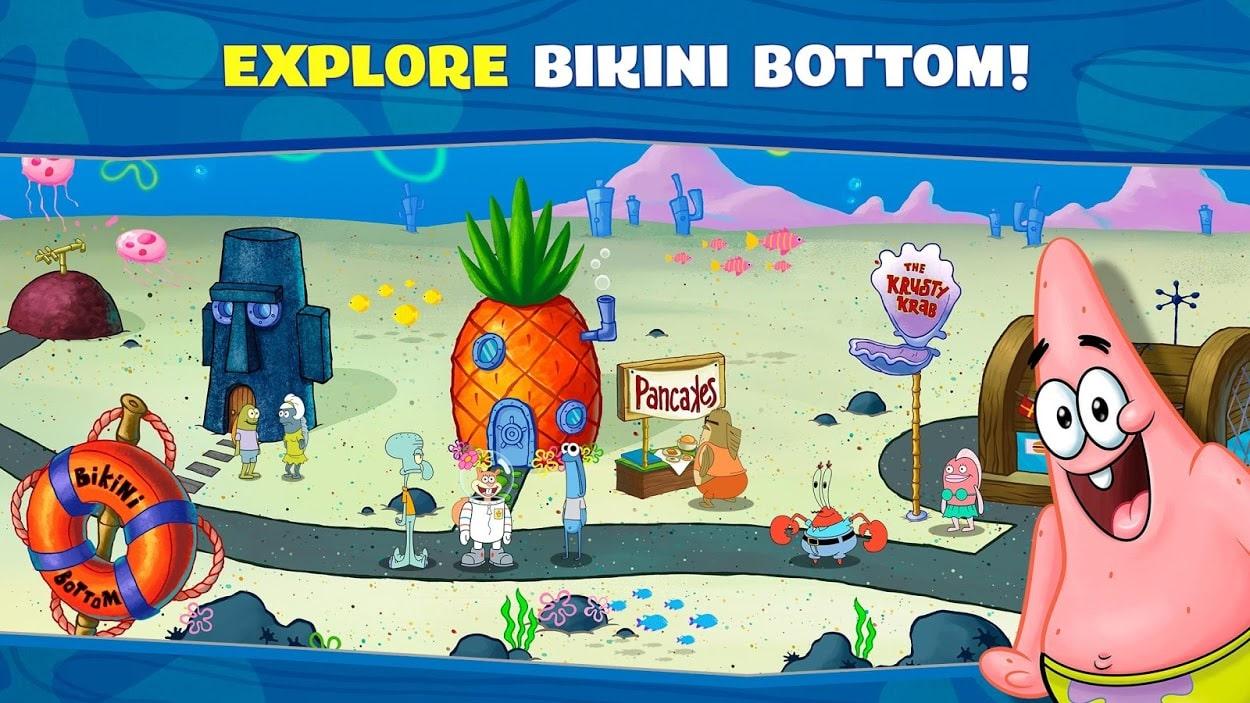 دانلود SpongeBob: Krusty Cook-Off 1.0.38 بازی رستوران باب اسفنجی اندروید + مود