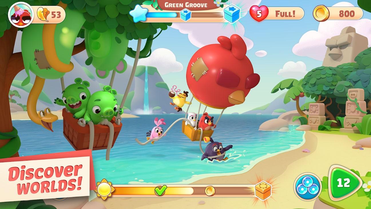 دانلود Angry Birds Journey 1.4.0 بازی سفر پرندگان خشمگین اندروید + مود