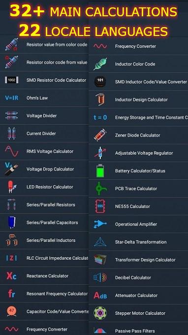 دانلود برنامه ElectroCalc – DIY Electronics Calculator Pro 2.4 برای اندروید