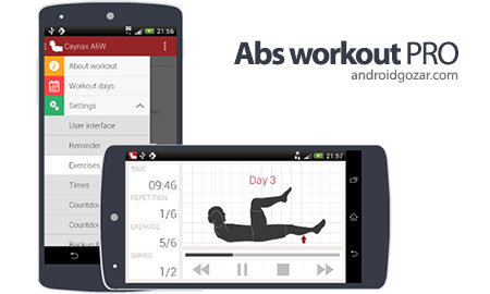 Abs workout PRO 9.11 دانلود نرم افزار تمرین عضلات شکم اندروید