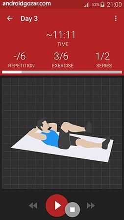 Abs workout PRO 9.18.1 دانلود نرم افزار تمرین عضلات شکم اندروید