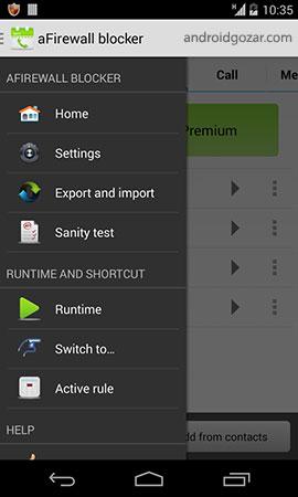 aFirewall call and sms blocker Pro 5.1.0 بلاک کردن تماس و پیامک اندروید