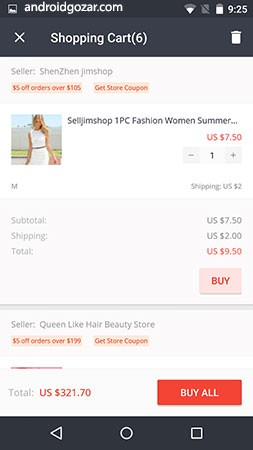 دانلود AliExpress Shopping App 8.3.0 – برنامه فروشگاه علی اکسپرس اندروید