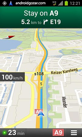Maps Speedometer 5.1 دانلود نرم افزار سرعت سنج نقشه ها