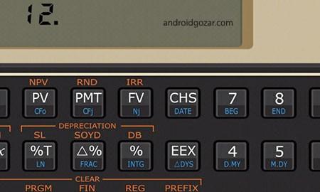 Andro12C financial calculator 2.41 دانلود نرم افزار ماشین حساب مالی
