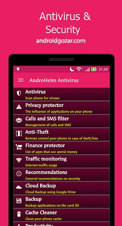 دانلود AntiVirus for Android Security 2.6.7 آنتی ویروس اندروید