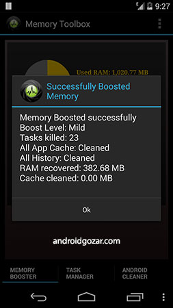 Memory Booster for Android Pro 5.1 دانلود جعبه ابزار حافظه اندروید
