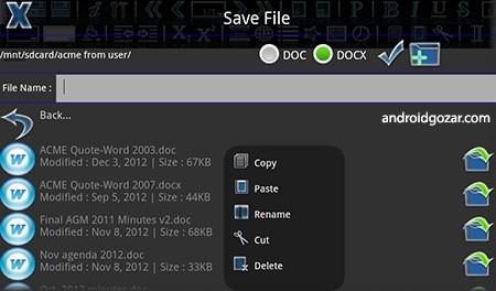 Android Office 5.4 دانلود نرم افزار آفیس اندروید