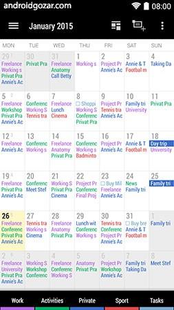 Business Calendar 2 Pro 2.32.1 دانلود نرم افزار تقویم کسب و کار