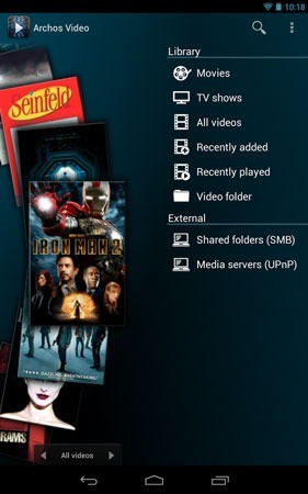Archos Video Player 10.2 دانلود نرم افزار پخش فیلم اندروید + پلاگین ها