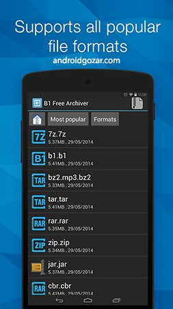 B1 Archiver zip rar unzip Pro 1.0.0120 مدیریت فایل فشرده در اندروید