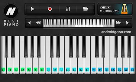 Best Piano PRO 1.4 دانلود نرم افزار پیانو