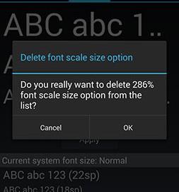 Big Font Pro 3.09 دانلود نرم افزار تغییر اندازه فونت اندروید