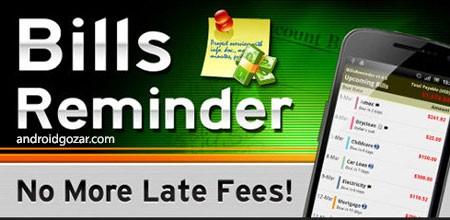 Bills Reminder Pro 1.1.3 دانلود نرم افزار یادآوری صورتحساب