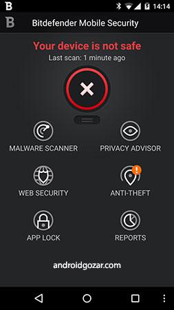 Bitdefender Mobile Security & Antivirus Premium 3.3.106.1441 آنتی ویروس بیت دیفندر اندروید