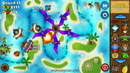Bloons TD 5 3.17 دانلود بازی دفاع از قلعه اندروید + مود