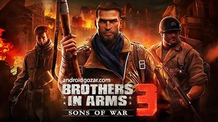 Brothers in Arms 3 1.4.9a دانلود بازی همرزمان مسلح 3 اندروید + مود