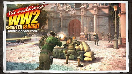 دانلود Brothers in Arms 3 1.5.3a – بازی همرزمان مسلح 3 اندروید + مود