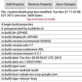 Build Prop Editor 1.1.9 دانلود نرم افزار ویرایش فایل build.prop