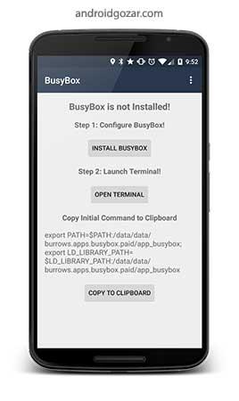 BusyBox Install Pro (No Root) 3.66.0.41 دانلود نرم افزار نصب بیزی باکس