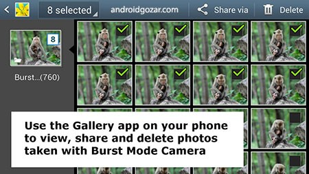 Burst Mode Camera Pro 1.65 دانلود نرم افزار دوربین عکاسی پشت سر هم