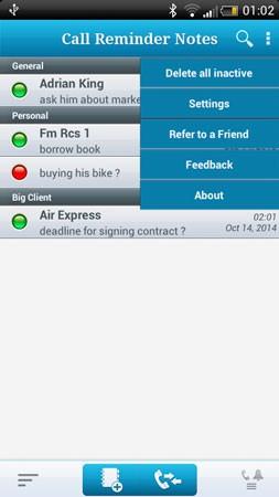 Call Reminder Notes Full 5.0.9 دانلود نرم افزار یادداشت یادآور روی تماس