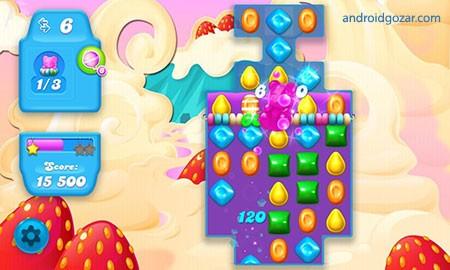 Candy Crush Soda Saga 1.129.2 دانلود بازی فشردن آب نبات اندروید + مود