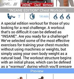 Chest Workout FULL 4.4.3 دانلود نرم افزار تمرین قفسه سینه