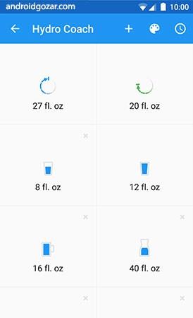 دانلود Hydro Coach Pro 4.4.5 – برنامه یادآوری نوشیدن آب اندروید