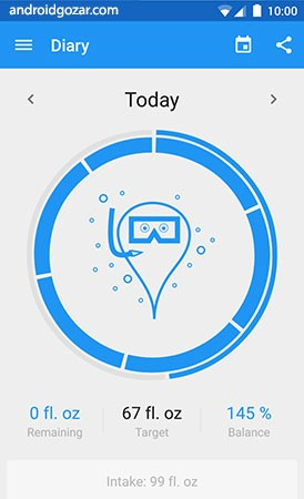 دانلود Hydro Coach Pro 4.2.6-pro برنامه یادآوری نوشیدن آب اندروید