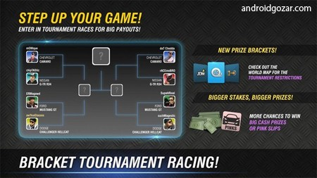 Racing Rivals 7.3.1 دانلود بازی اتومبیل رانی رقبای مسابقه اندروید + مود