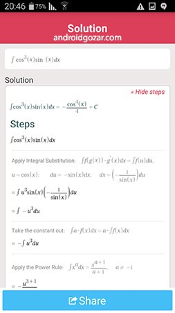دانلود Symbolab Pro 9.0.1 برنامه حل مسائل ریاضی با راه حل اندروید