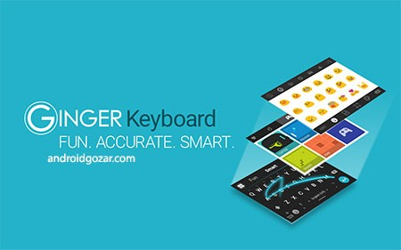 Ginger Keyboard Premium 7.13.02 دانلود صفحه کلید حرفه ای اندروید با تم، شکلک و گیف