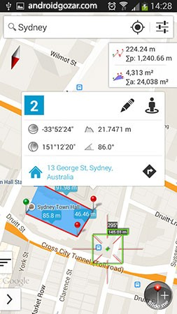 Measure Map Pro 3.5.1 دانلود نرم افزار اندازه گیری دقیق مناطق و محیط ها روی نقشه