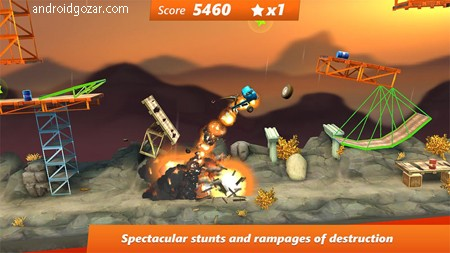 Bridge Constructor Stunts 3.0 دانلود بازی شاهکارهای پل سازی اندروید + مود