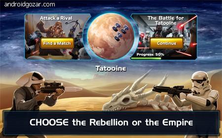 دانلود Star Wars: Commander 7.7.0.217 بازی جنگ ستارگان: فرمانده اندروید + مود